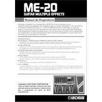 Manual Pedaleira Boss - Me 20 - Português - Pdf
