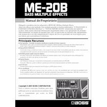 Manual Boss Me-20b Português - Em Pdf