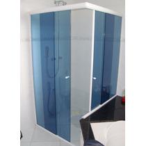 Box De Banheiro Em Vidro 8mm Temperado Em L 80x80 Sob.medida