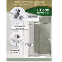 Kit Box Advance F1 1,50 Para Banheiro Roldanas Aparentes
