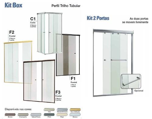 Box Banheiro Vidro Temperado Incolor 8 Mm Rio Pequeno  R$ 210,00 no MercadoL -> Box Banheiro Rio Pequeno