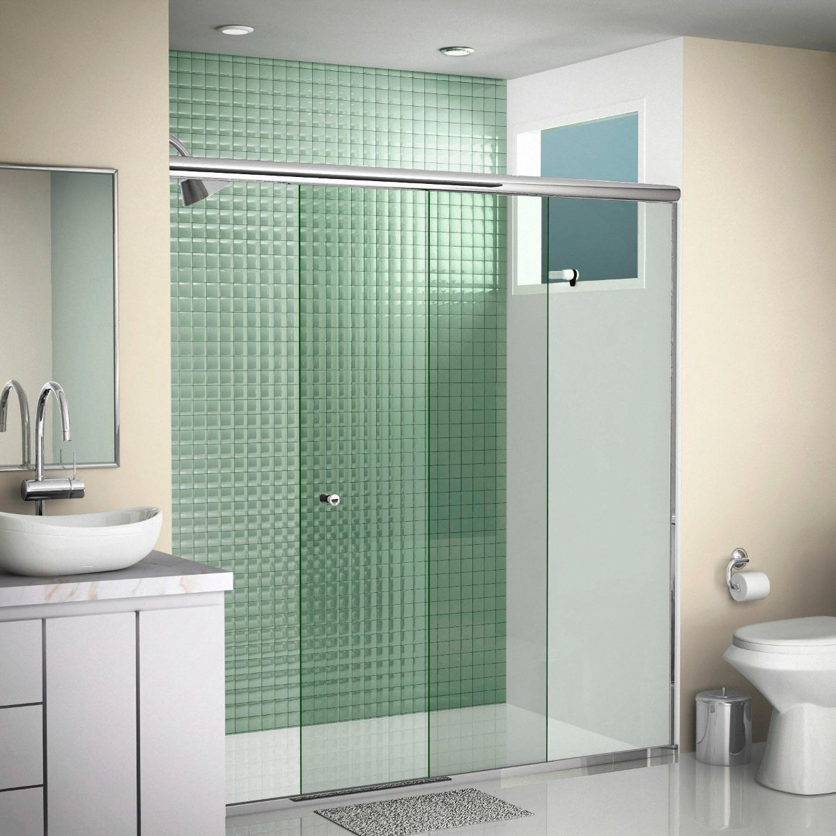 #466B50 Box Para Banheiro (com Qualidade E Preço) R$ 63 00 no MercadoLivre 1200x1200 px Banheiro Tipo Container 1695
