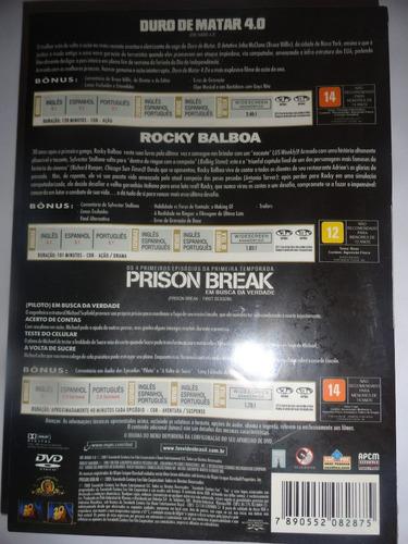 Box Trilogia Duro De Matar 4.0 + Rocky Balboa + Prison Break