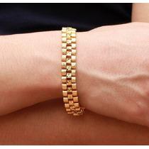 Pulseira Bracelete Feminino Banhado A Ouro 18k - Alta Qualid