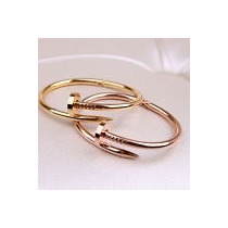 Pulseira Bracelete Masculino Feminino Ouro Dourado Aço Inox