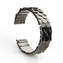 Pulseira Bracelete Escama Peixe Cobra Fume - 0024 - Pul