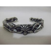 B. Antigo - Bracelete Em Prata De Lei Italiano Com Serpentes