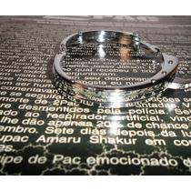Pulseira Bracelete Algema Masculino Inox Diamond Inox Tyga