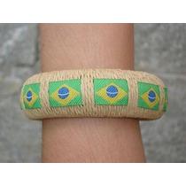 Pulseira Bracelete Joaquina De Juta Bandeira Do Brasil Copa