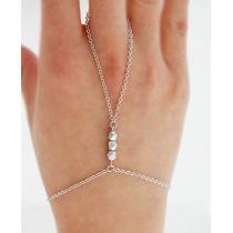 Anel Pulseira Handchain Indiana Slave Bracelet Prateada