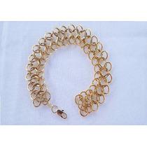 Bracelete Ouro 18k Gold Filled Elos Infinito Importado B682