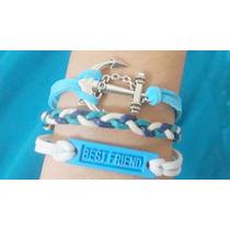 Pulseira Bracelet Ancora, Best Friend, Melhor Amigo
