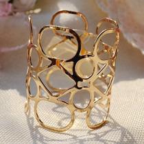 Pulseira Bracelete Banho Ouro 18 K. Lindíssima.