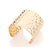Bracelete Largo Liso Trabalho Martelado Rommanel 551018