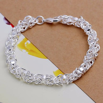 Pulseira Bracelete De Prata Corrente/elo Feminina Belíssima
