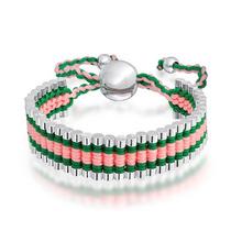 Elo De Amizade Pulseira Rosa Barra Ajustável - Bling Jewelry