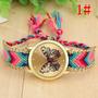 Relogio Bracelete Transado Borboleta 8 Cores Feminino