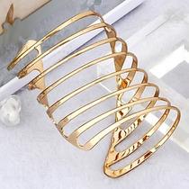 Bracelete Pulseira Feminino Em Ouro 18k 750 Desing Moderno