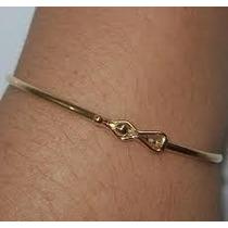 Bracelete Pulseira Feminina Em Ouro 18k-750