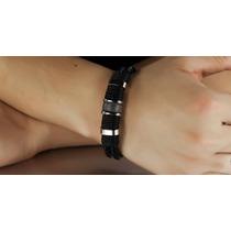 Bracelete Pulseira Masculina Vintage Couro - Frete Barato