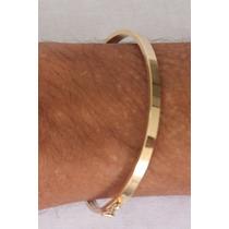 Bracelete Masculino Em Ouro Amarelo 18 K