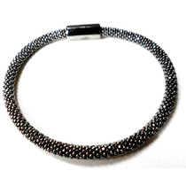 Bea-bracelete Italiano Em Prata 925 Folheado A Ródium Negro