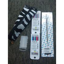 2 Kits Borrachinha Aparelho Unid + Aplicador + Cera + Estojo