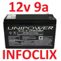 Bateria Selada 12v 9a Up1290 Nobreak 12 9 9ah Unipower @