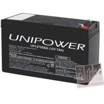 Kit C/ 06pcs Bateria 12v 7ah Unipower Up1270seg No-break Itx