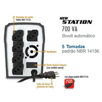 Nobreak 700va Bivolt Senoidal E New Station 05 Tomadas