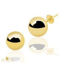 Brinco Em Ouro Bolinha Oca De 3mm Indicado Para Bebê Br064