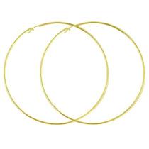 Brinco Argola Grande Banhado / Folheado C/ 3 Camadas De Ouro