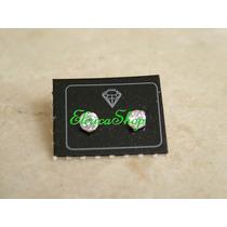 Brinco Zircônia Redonda 0,5cm Segundo Furo Em Prata 950