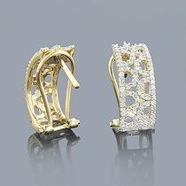 Par De Brincos Em Ouro 18 Quilate E Diamantes