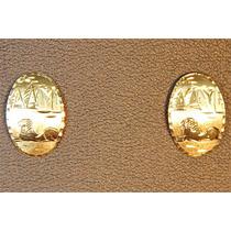 Rsp J1194 Brinco De Ouro 18k Detalhes Egípcios Frete Gátis