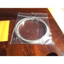Brinco Argola 7cm Par Diamonte/ Rhinestone 1 Camada + Prata