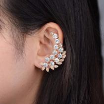Brinco Ear Cuff Folha Cristal Pronta Entrega No Brasil