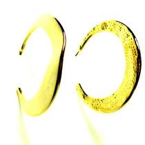 Brinco Formato De Meia-lua Dourada 00388001 Bijuslu