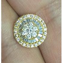 Brincos Pizza Em Ouro Amarelo E Diamantes! Melhor Preço!!