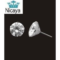 Nicaya Brinco Cálice Solitário Zircônia 6mm Ouro Branco 18k
