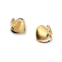 Brinco Formato Coração Rommanel Folheado Ouro.med. 1,4 Cm