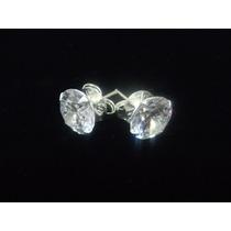 Brinco Masculino 9 Mm Em Prata 925 Pedra Diamante Sintético