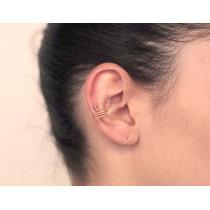 Brinco Ear Cuff Espiral Cristal Ouro Rommanel 525184
