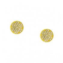 Monreale Maravilhoso Brinco Em Ouro 18k Pave De Diamantes