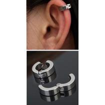 1 Piercing De Pressão (falso) Em Aço Inox Em 3 Cores