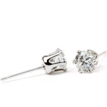 Brinco Masculino Feminino Ponto De Luz Pedra Imita Diamante