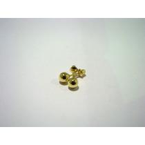 Brinco De Bolinha Tarracha Baby 4mm Ouro 18k 007202