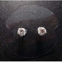 Redondo 5mm - Brinco Solitário Com Zirconia Em Prata 925
