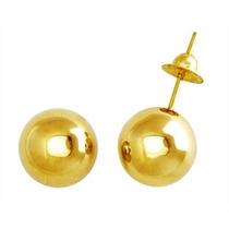 Monreale Lindo Brinco Bola Em Ouro 18k Polído 10mm
