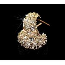 Brincos Folheado Ouro Rose 18k C. Swarovski